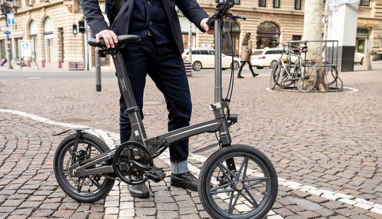 سبک ترین دوچرخه تاشو برقی جهان