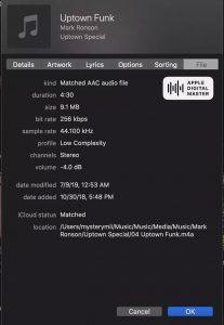 برنامه پخش موزیک Apple Digital Masters
