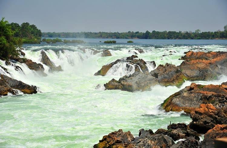 عریض ترین آبشار جهان ؛ آبشار Khone