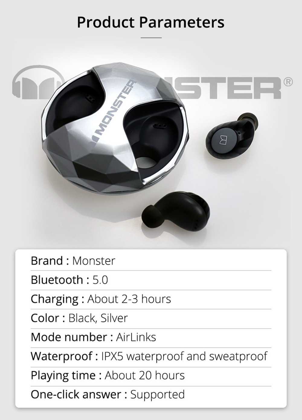 ایربادز Monster AirLinks TWS